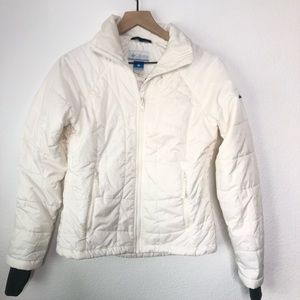 Columbia Omni Shield White Puffer ZIP Up Jacket